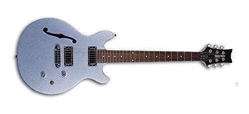 Rock Electric Body Guitar (Daisy Rock DR6302-U Stardust Retro-H Electric Guitar, Ice Blue Sparkle)