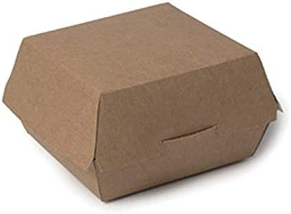 Envase Hamburguesas Cartón Kraft (25 Uds): Amazon.es: Hogar