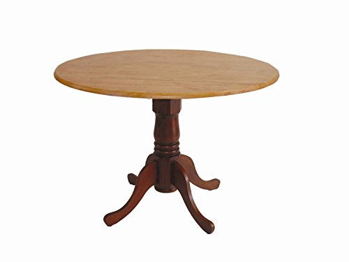 International Concepts T58-42DP 42-Inch Round Dual Drop Leaf Ped Table, (Home Drop Leaf)