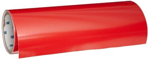 Aisle Marking Tape Red (Brady Nonabrasive Shadow Board Tool Floor Marking Tape, 12' Length, 12