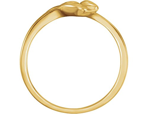 'Unblossomed Rose' 10k Yellow Gold Chastity Ring, Size 5 by The Men's Jewelry Store (for HER) (Image #1)