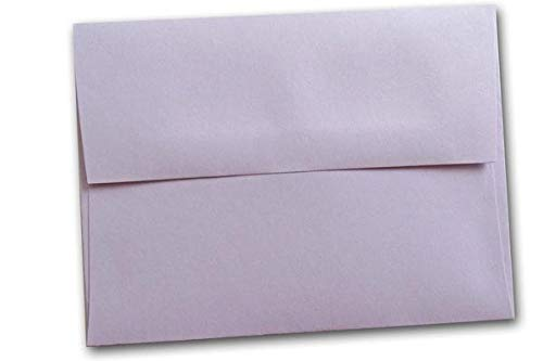 Bulk Discount Pastel EarthChoice A-2 Square Flap Envelopes - 250 Pack - Great for DIY Mailings, Printing, Invitations, Notecards, RSVP, Etc. (Orchid)