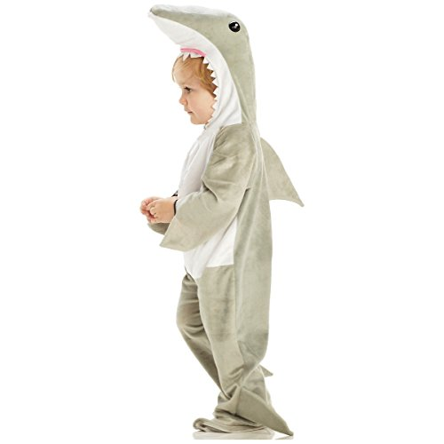 Boys Shark Costumes (Underwraps Baby's Shark, Grey/White, Large)
