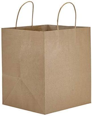"""GOLD STRIPE CARRIER BAG 9/"""" x 11/"""" PACK 500 BLACK"""