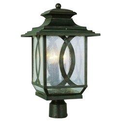 Trans Globe Lighting 5194 BRT Outdoor San Jose 23.25'' Postmount Lantern, Burnished Rust