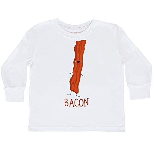 (inktastic - Bacon Costume Toddler Long Sleeve T-Shirt 2T White)