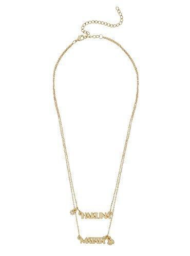 Disney The Lion King Hakuna Matata Layered (Disney Charm Necklaces)