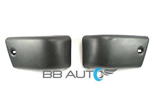 BB Auto NEW Front Bumper End Caps Set RH LH Replacement for 84-88 Toyota Pickup Truck 4WD 84-89 4Runner