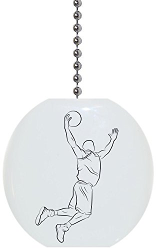 Basketball Sports Icon Solid Ceramic Fan Pull