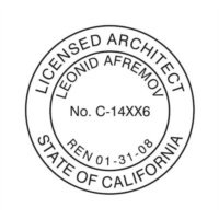 Perfect CALIFORNIA LICENSED ARCHITECT SUPPLIES // CALIFORNIA // CUSTOMIZED /  PERSONALIZED LICENSED ARCHITECT SEAL (