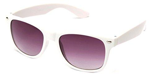 Classic Horned Rim Multi Color Party Fun Kids - Rim White Sunglasses