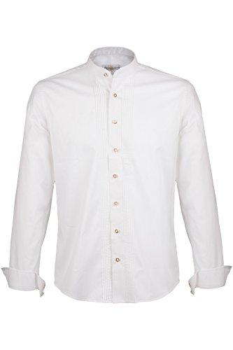 Almsach Trachtenhemd mit Stehkragen weiß slim fit Größe L