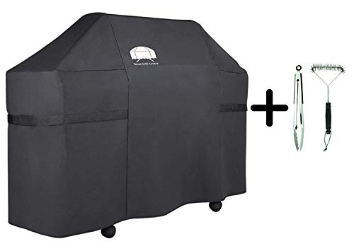 Texas Grill Covers 7555 Premium Cover for Weber Summit 600-series Gas Grills Including Brush and Tongs (Fits E-620 S-620 E-670 S-670)