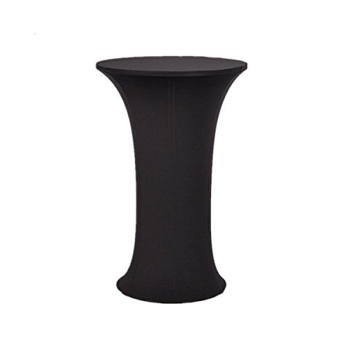 Bettery Cocktail Tablecloth Spandex Fitted Stretchable Elastic Table Cover 24 x 43 inch Black by Bettery