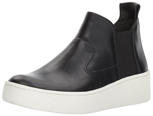 Mid Sneaker Height Leather Spiga Women's Black Eren Via qPFxztOwF