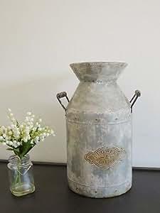 Nuevas flores y jardín jarra de leche, galvanizado–Maceta de metal