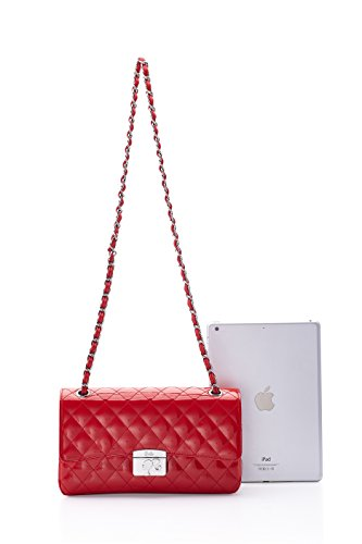 Mode série Fashion Shopping en couleur Femmes Main avec mouton rouge de pure BBFB087 de Cool la Epaule carreaux Sac à Bandoulière Filles de cuir Porté Barbie à pour Elégant 8qavwxZU