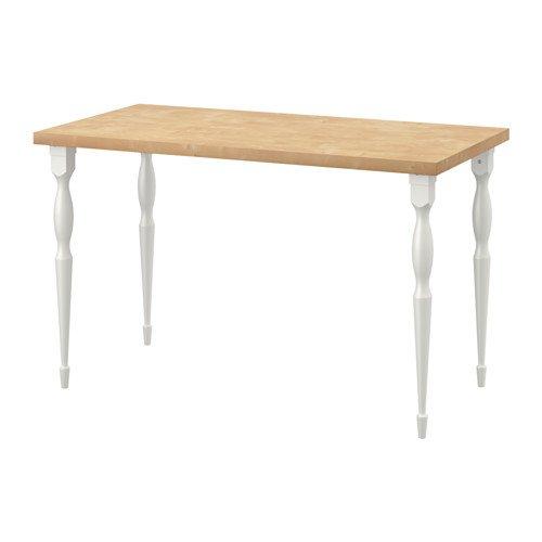 Ikea 8202.14238.306 - Mesa de Comedor, Efecto Abedul, Color Blanco ...