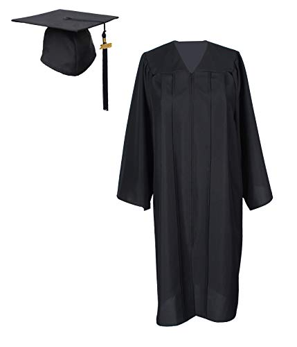 GradPlaza Graduation Gown with Cap and Tassel 2019 Unisex Matte Robe -