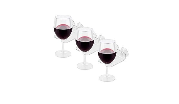 Sujetacopas de vino de cristal para bañera.Caddy - Potente ...