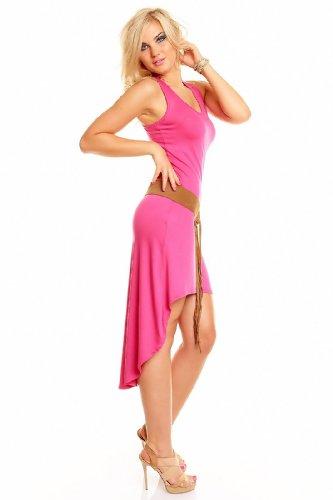 Kleid Minikleid Longtop Shirt Strandkleid Sommerkleid Freizeitkleid Pink KmV3e1HPvW