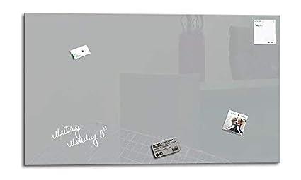 Glas Magnettafel Grau mit 4 Magneten Memoboard Pinnwand magnetisch Whiteboard