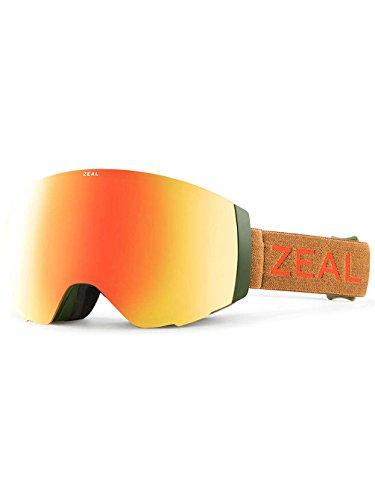 (Zeal Optics Unisex Portal Khaki Moss W/ Polarized Phoenix Mirror Lens + Sky Blue Mirror Le One Size )