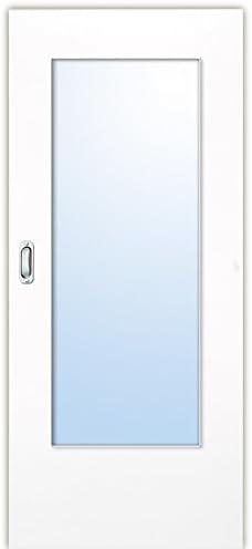 Blanco lacado 9010 DIN la Puerta Corredera con türkante forjada, vidrio, DIN links: Amazon.es: Bricolaje y herramientas
