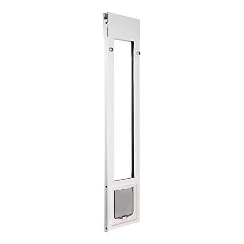 Whiskers & Windows Cat Door for Sliding Glass Door, Adjustable Height Range from 74-3/4