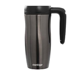Contigo Autoseal Randolph Stainless Steel Travel Mug with Button Lock, 16 oz, Gunmetal