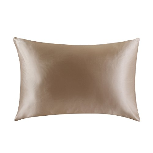 Price comparison product image OOSILK 100% Mulberry Silk Pillowcase for Hair King 20in x 36in, Taupe,Gift Wrap, 1pc