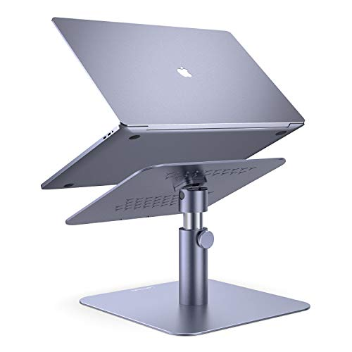 Adjustable Laptop Stand, Lamicall Laptop Riser : Multi-Angle Height Adjustable 360°Rotation Computer Notebook Stand Desktop Holder Compatible with Apple MacBook, Mac, Air, Pro, Dell XPS, HP(10-17