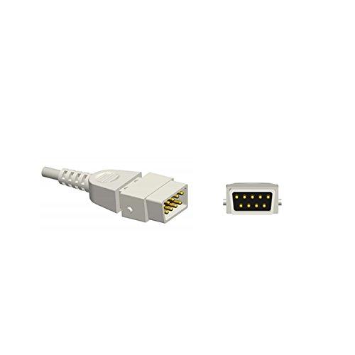 Compatible for Smiths BCI Spo2 Sensor V1703 Multi-Y 3.2 ft 9 Pins Connector