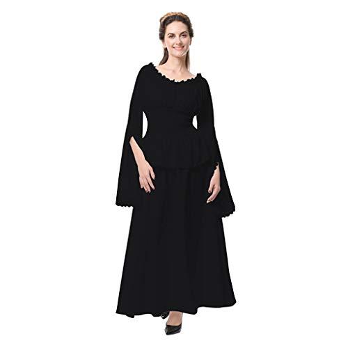 Women Retro Gown Dress Medieval Renaissance Cosplay Vintage Party Club Elegante Costumes Irish Over Maxi Long Dresses Black]()