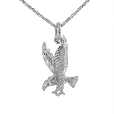 - Sterling Silver Eagle Open Claws Necklace, 20