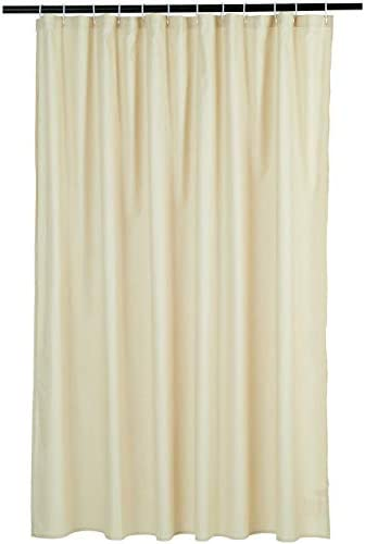 Amazon Basics Waffle Texture Bathroom Shower Curtain - Beige, 72 Inch