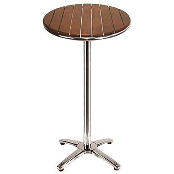 ILINEO - Table Haute Ronde - Mange-Debout Extérieur Terrasse Jardin ...
