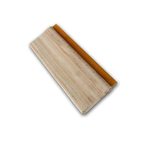 INTBUYING Screen Printing Squeegee 13 inches Long Wooden Ink Scraper 75 Durometer 4 inches Wide
