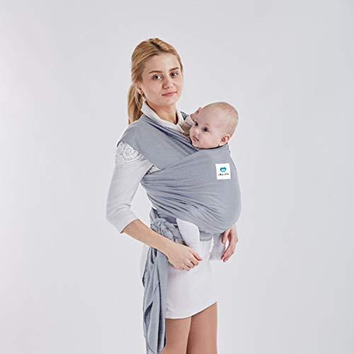 Aier Pro Baby Wrap The Best Baby Sling Soft and Comfortable Baby Carrier Highly Recommend The Highest Cost Performance Body Carrier Nursing Cover for Infants and Newborn Baby Shower Paper (Light Gray) For Sale