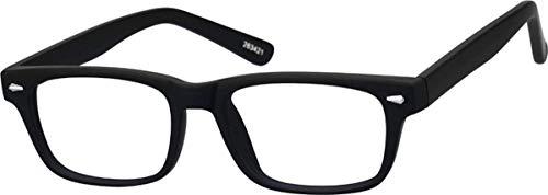dbf12e0e175 Kids Zenni Optical Blokz Blue Light Blocking Computer Glasses Rectangle  Black Plastic Frame 263421
