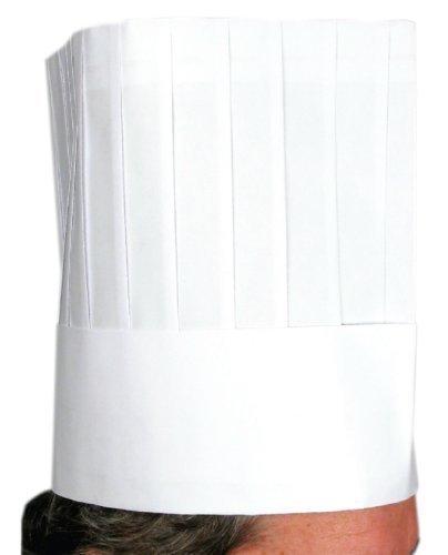 """Winco Chef Hat, Disposable, 9"""", 10pcs/bag, Set of 5"""