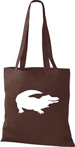 Krokodil - Bolso de tela de algodón para mujer marrón - marrón