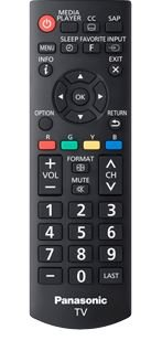 Original PANASONIC Remote Control for N2QAYB000820, TCL32B6,