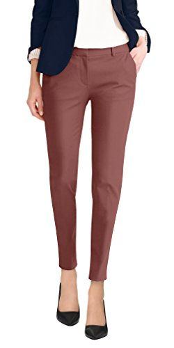 Super Comfy Flat Front Stretch Trousers Pants PW31200TT CLAY 3