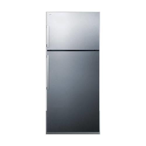FF1511SS 28 Energy Star Certified Top Freezer Refrigerator with 12.6 Cu. Ft. Capacity Fruit and Vegetable Crisper Interior LED Lighting Digital Temperature Control and Door Storage: Stainless Steel