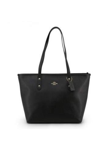 (Coach Women's Crossgrain Leather City Zip Tote No Size (Im/Black))