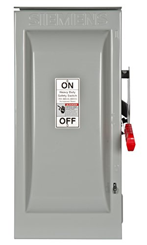 600v Safety Switch - Siemens HF363R 100-Amp 3 Pole 600-volt 3 Wire Fused Heavy Duty Safety Switches