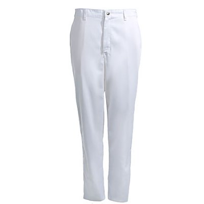 Chef Designs Pants Uniform Pants White Zipper Fly Chef/Cook Pants 2020WH - 42 Unhemmed by Chef Designs