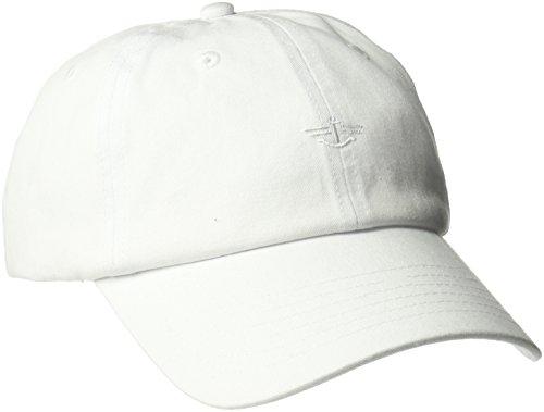 Logo Cap White Baseball (Dockers Men's Core Tonal Embroidered Logo Dad Baseball Hat, White, One Size)