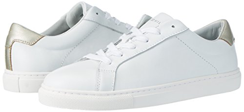 100 white 10a1 Sneakers T1285ina top Hilfiger Low Women's Tommy White qwHxFBOCW